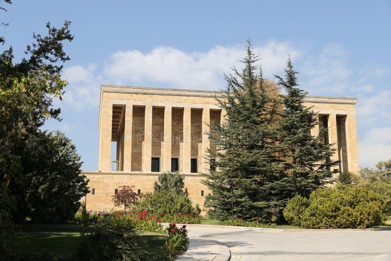 Anitkabir mauzoleum Mustafa Kemal Ataturk w Ankara obraz stock