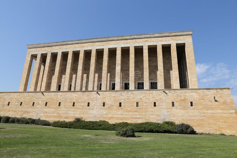 Anitkabir mauzoleum Mustafa Kemal Ataturk w Ankara fotografia stock