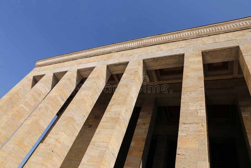 Anitkabir mauzoleum Mustafa Kemal Ataturk w Ankara obraz royalty free