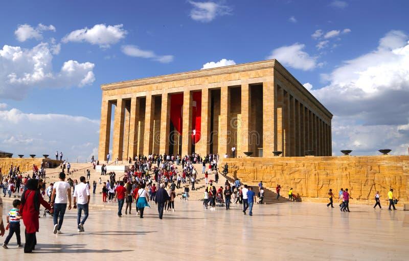 Anitkabir, Mustafa Kemal Ataturks-mausoleum stock afbeelding