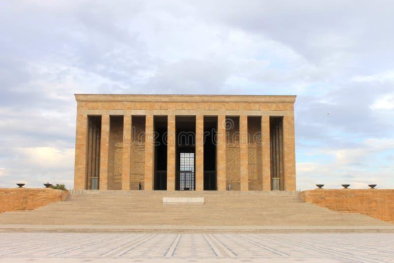 Anitkabirmausoleum van Ataturk, Ankara, Turkije royalty-vrije stock foto's