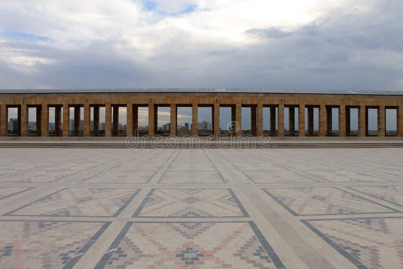 Anitkabirmausoleum van Ataturk, Ankara, Turkije royalty-vrije stock afbeelding