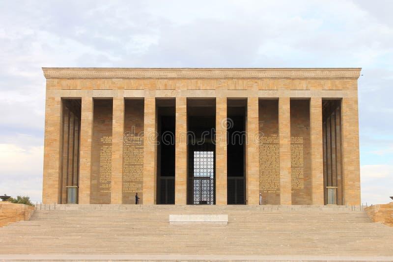 Anitkabirmausoleum van Ataturk, Ankara, Turkije royalty-vrije stock fotografie