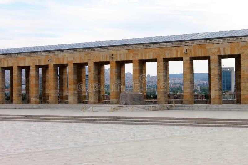 Anitkabirmausoleum van Ataturk, Ankara, Turkije stock fotografie
