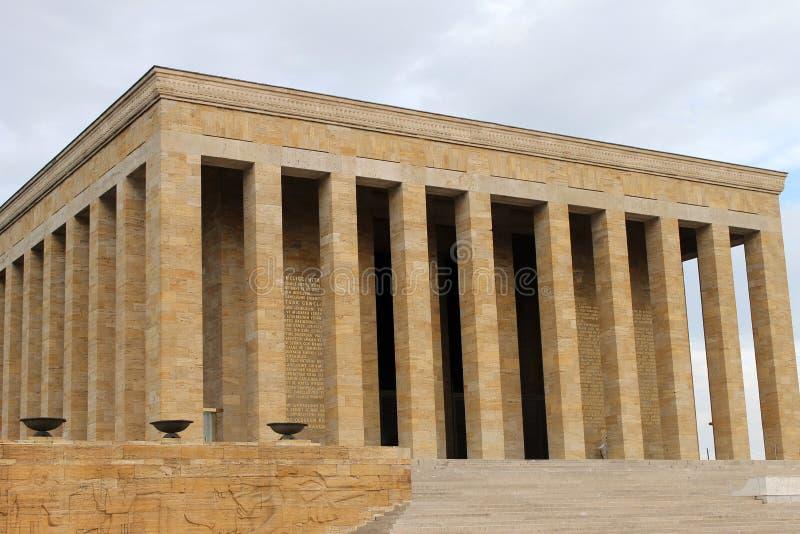 Anitkabirmausoleum van Ataturk, Ankara, Turkije stock afbeelding