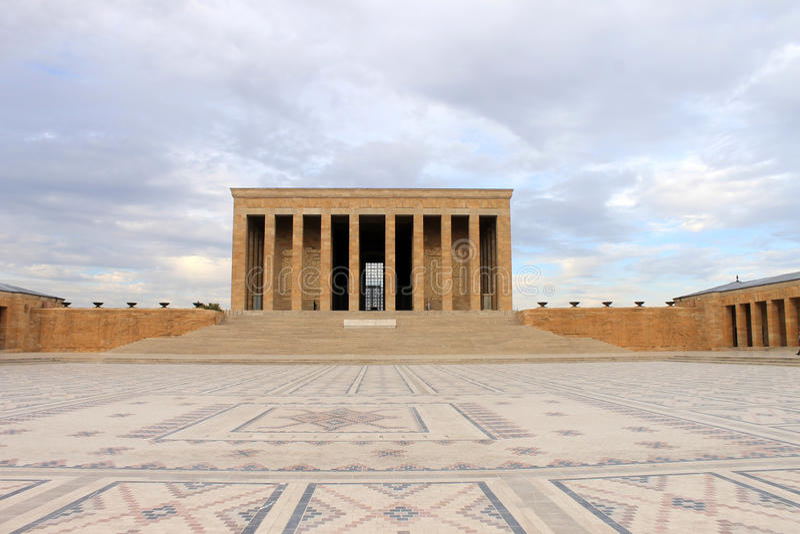 Anitkabirmausoleum van Ataturk, Ankara, Turkije stock foto's