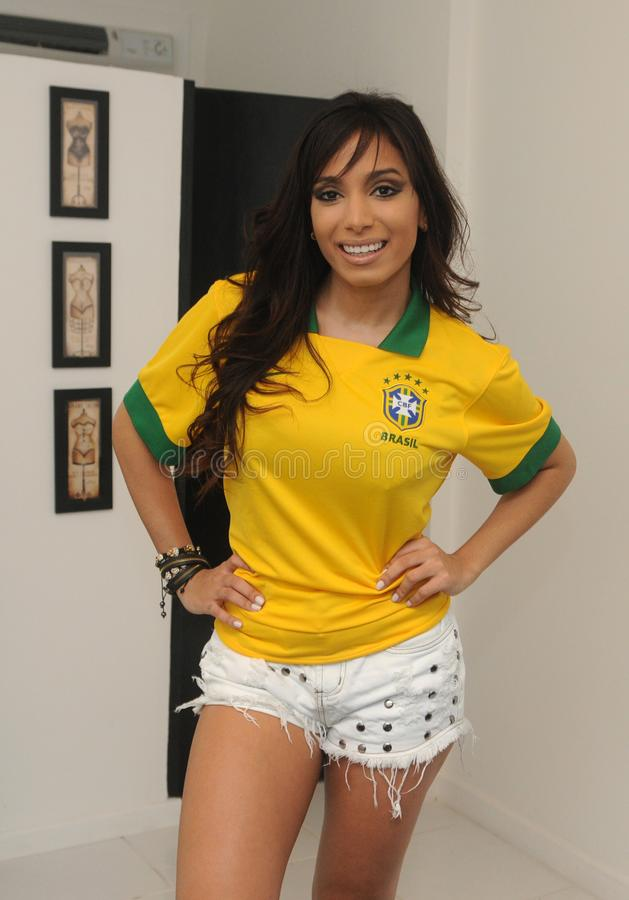 Anitta brasilian歌手 图库摄影