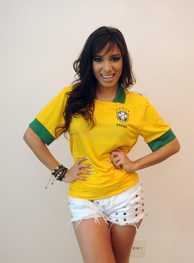 Anitta brasilian sångare arkivbilder