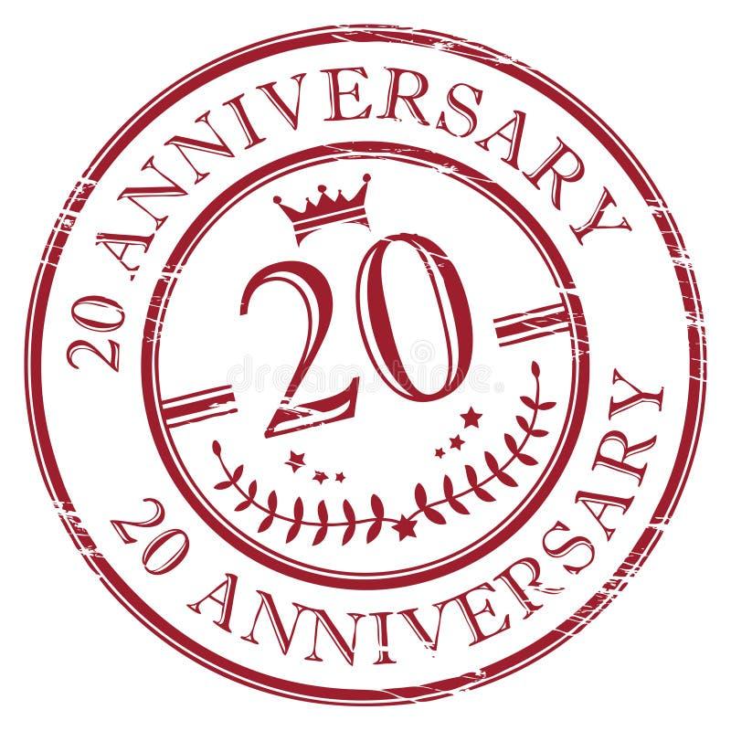 aniversário 20 ilustração royalty free