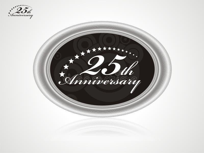 aniversário 25 ilustração royalty free