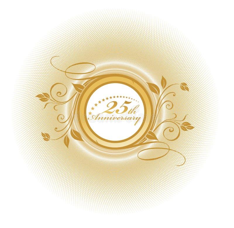 aniversário 25 ilustração stock