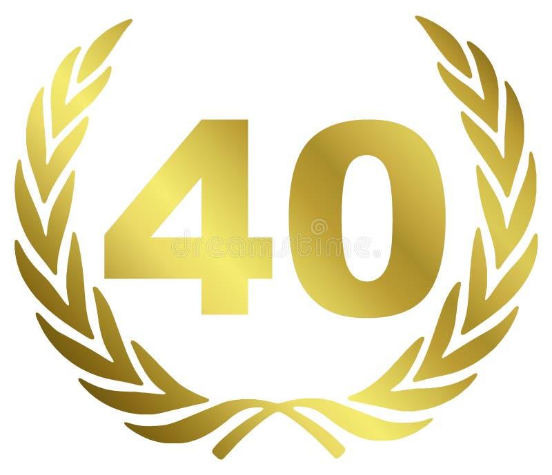 Aniversário 40 ilustração do vetor