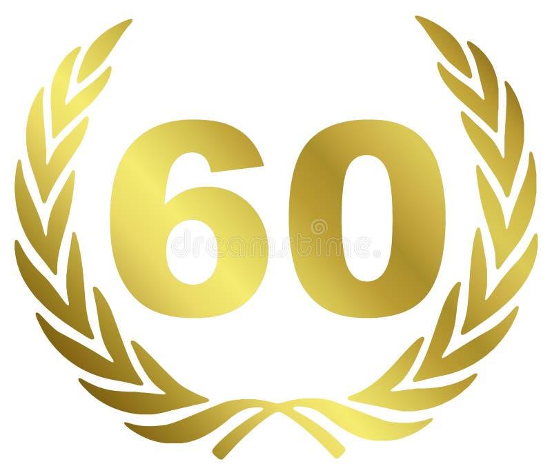 Aniversário 60 ilustração do vetor