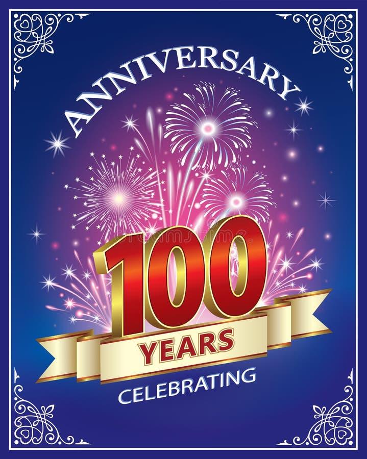 Aniversário 100 anos ilustração royalty free