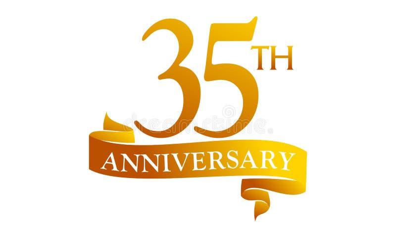 Aniversário da fita de 35 anos ilustração royalty free