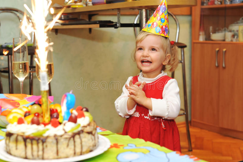 Aniversário da menina imagem de stock