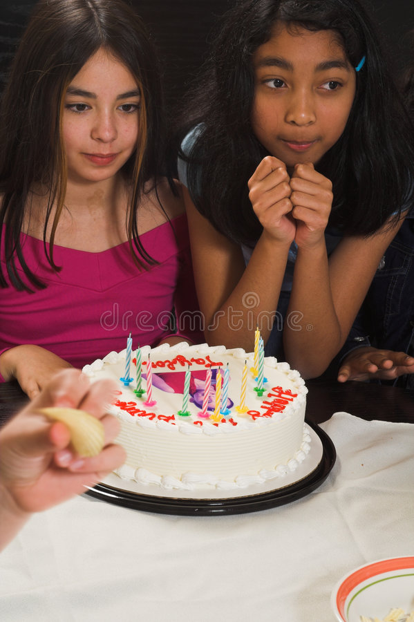 Aniversário de comemoração adolescente imagem de stock