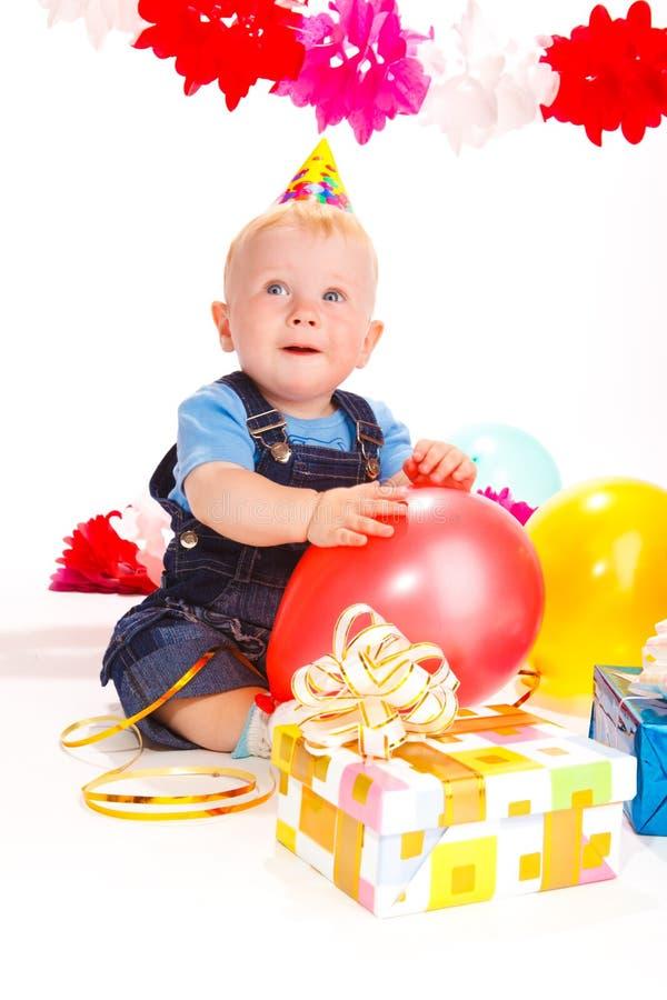 Aniversário do bebê imagem de stock royalty free
