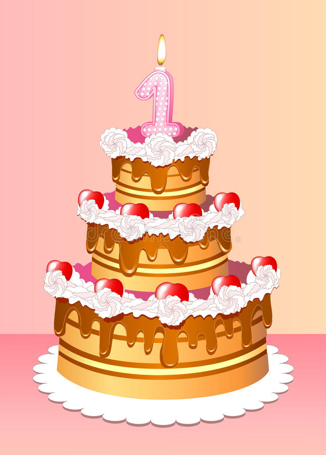 Aniversário do bolo ilustração do vetor