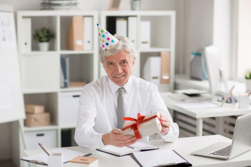 Aniversário do chefe imagens de stock