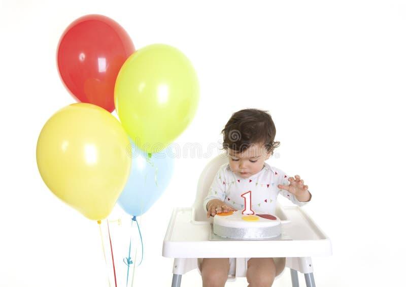 Aniversário dos bebês ø imagens de stock