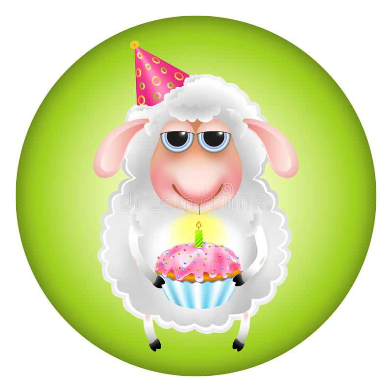 Aniversário dos carneiros ilustração royalty free