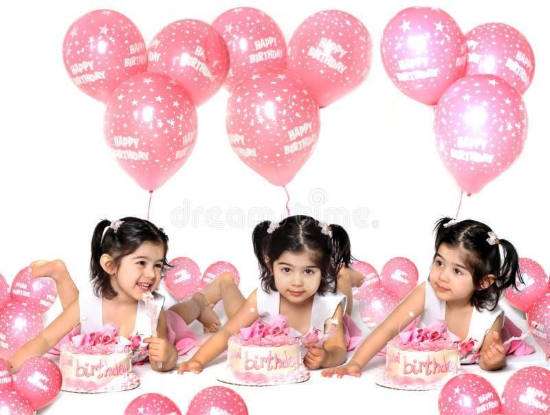 Aniversário girl2 foto de stock royalty free