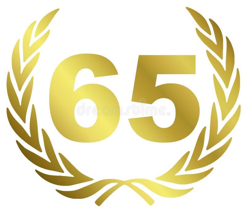 Aniversario 65 ilustración del vector