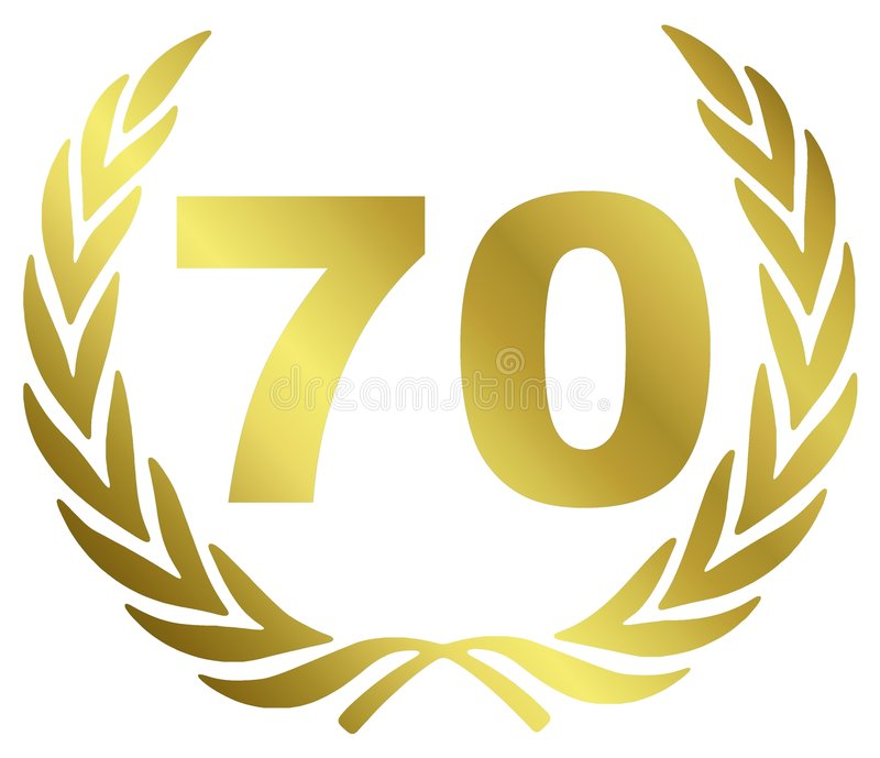 Aniversario 70 stock de ilustración
