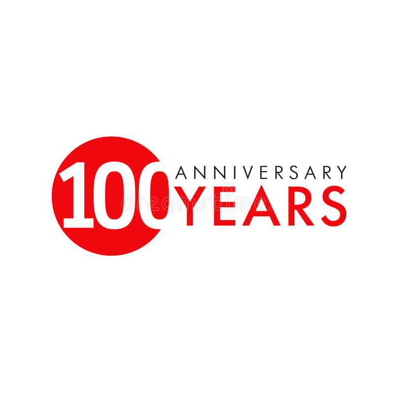 Aniversario 100 años stock de ilustración