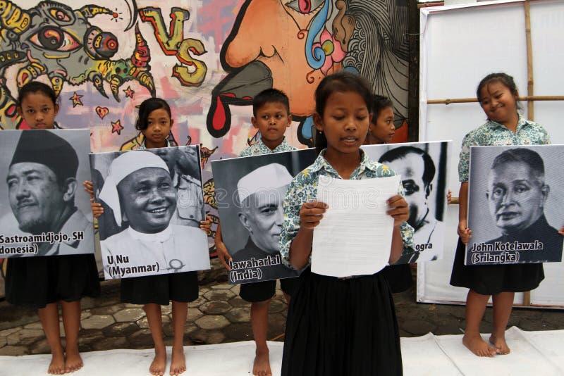 aniversario Asiático-africano de la conferencia foto de archivo