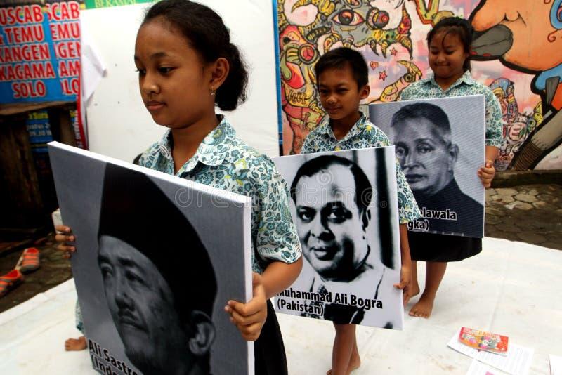 aniversario Asiático-africano de la conferencia imagenes de archivo