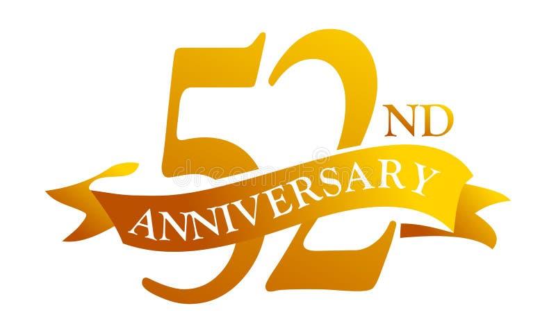Aniversario de la cinta de 52 años stock de ilustración