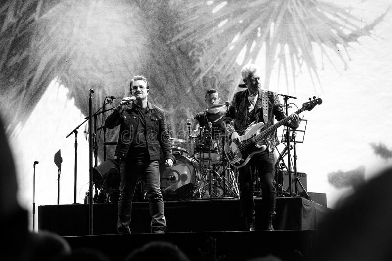 2017 aniversario de U2 Joshua Tree World Tour-30th fotos de archivo