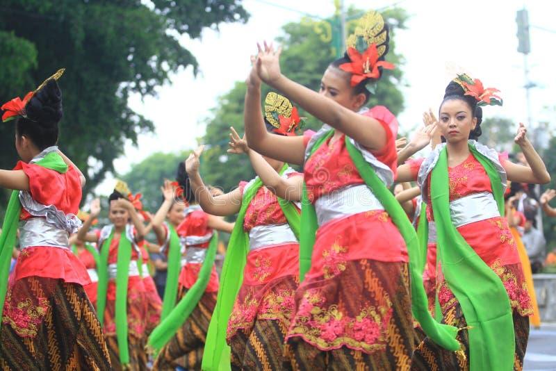 Aniversario Sragen de la ciudad del carnaval fotos de archivo