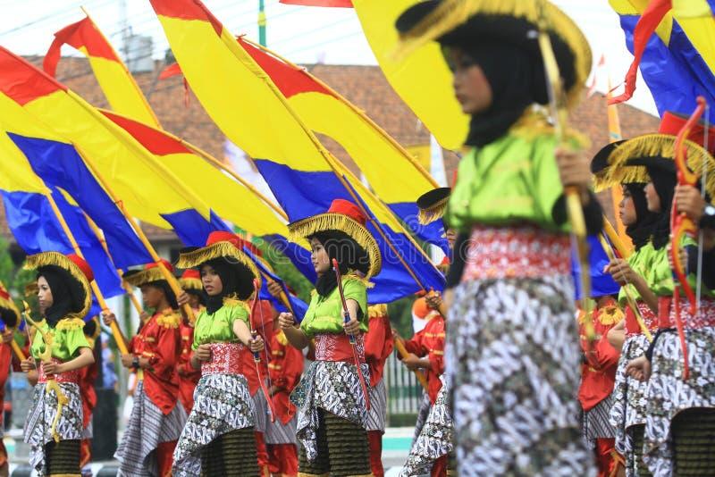 Aniversario Sragen de la ciudad del carnaval foto de archivo libre de regalías