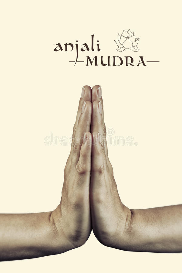 Anjali Mudra imagens de stock