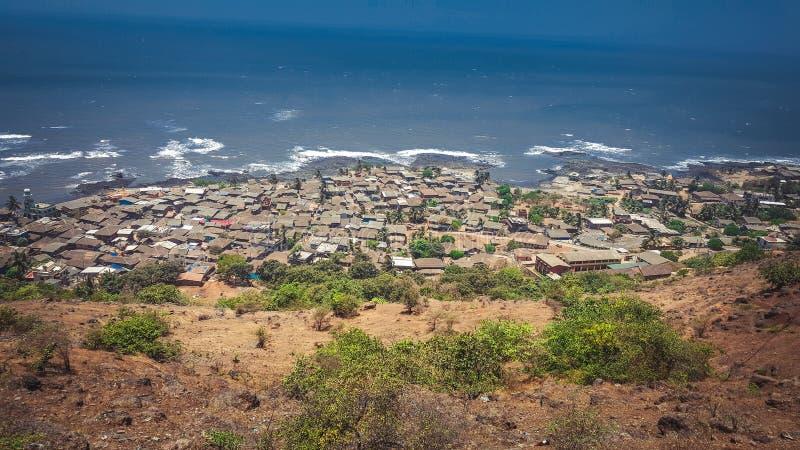 Anjarle村庄在Konkan马哈拉施特拉参观的最好地方在Dapoli著名为它的加内什寺庙 库存图片