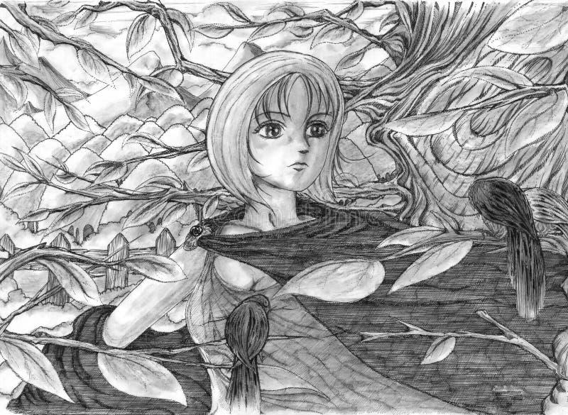 Anjo ilustração do vetor