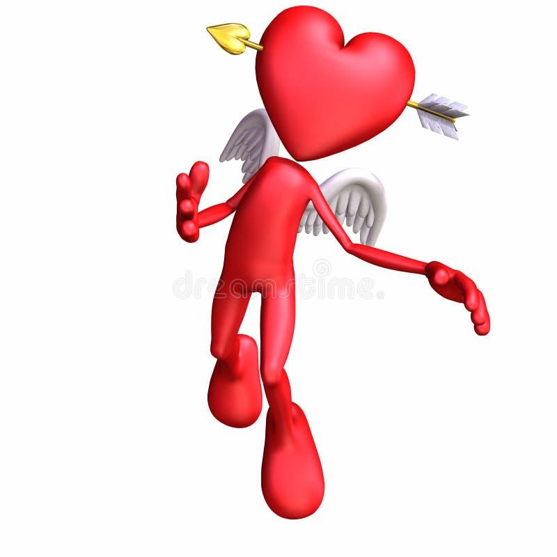 Anjo 2 do Valentim ilustração stock