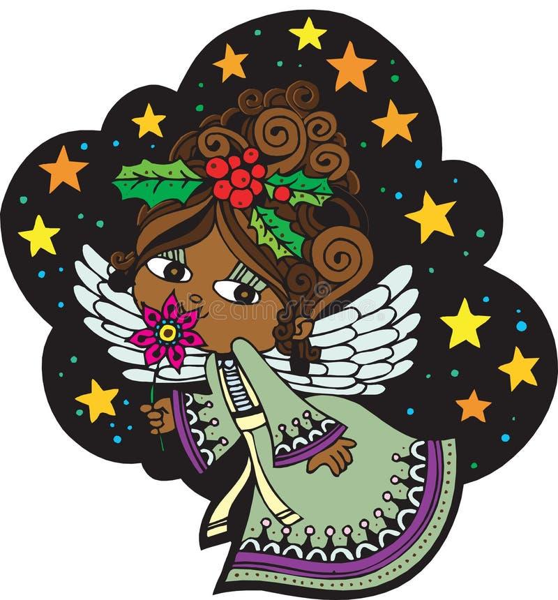 Anjo 5 do Natal ilustração royalty free