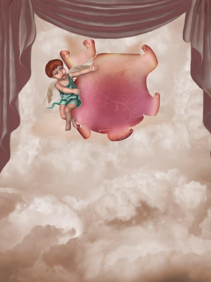 Anjo ilustração royalty free