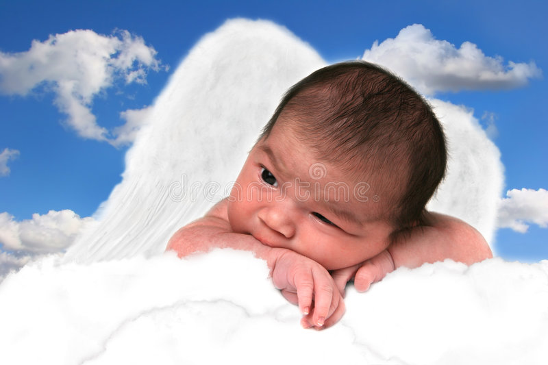 Anjo adorável do bebé foto de stock royalty free