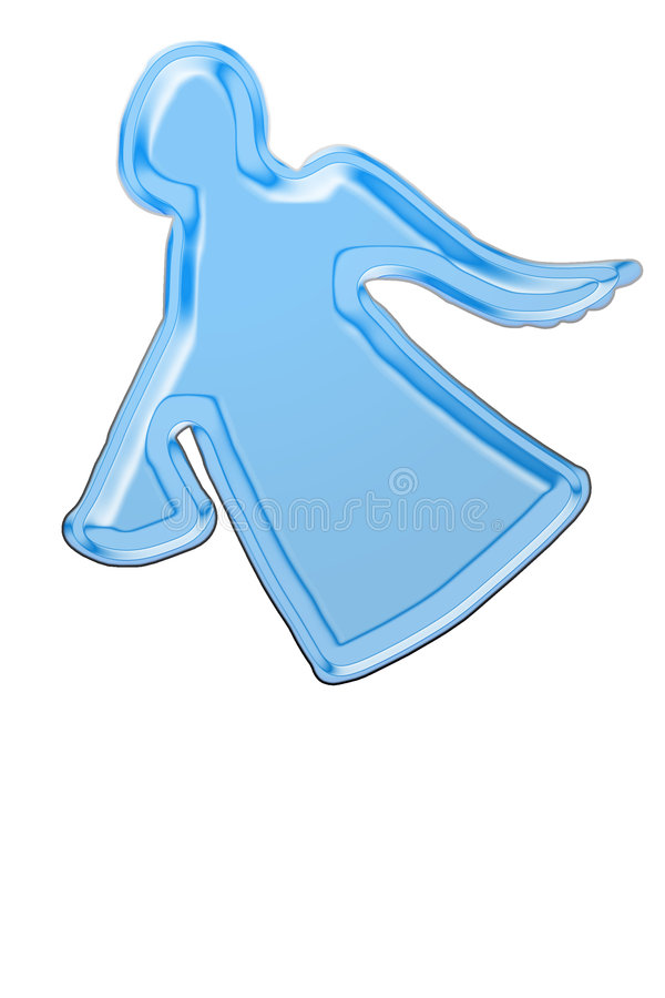 Anjo azul ilustração royalty free