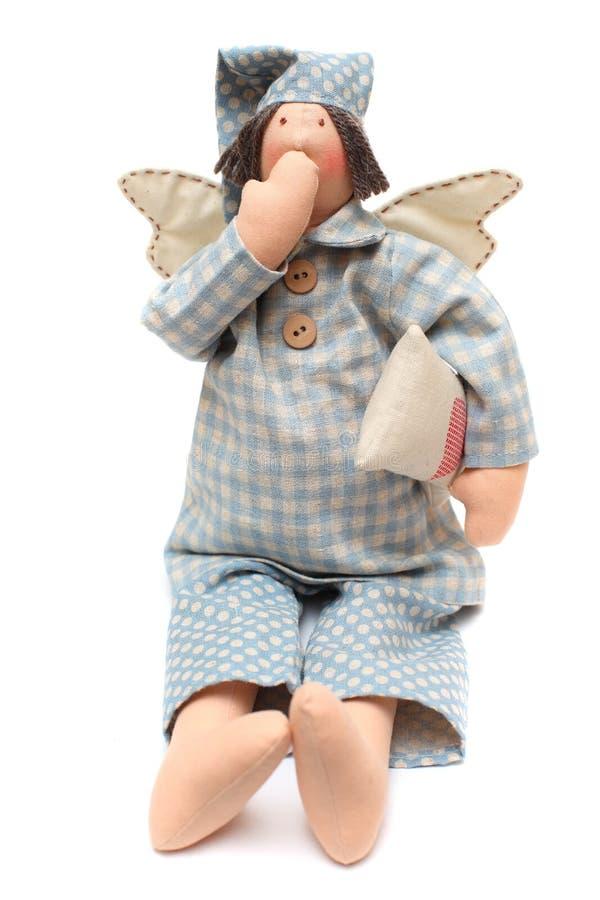 Anjo azul do sono imagem de stock