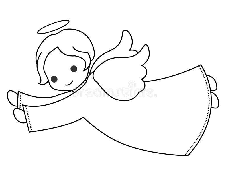 Anjo bonito ilustração stock