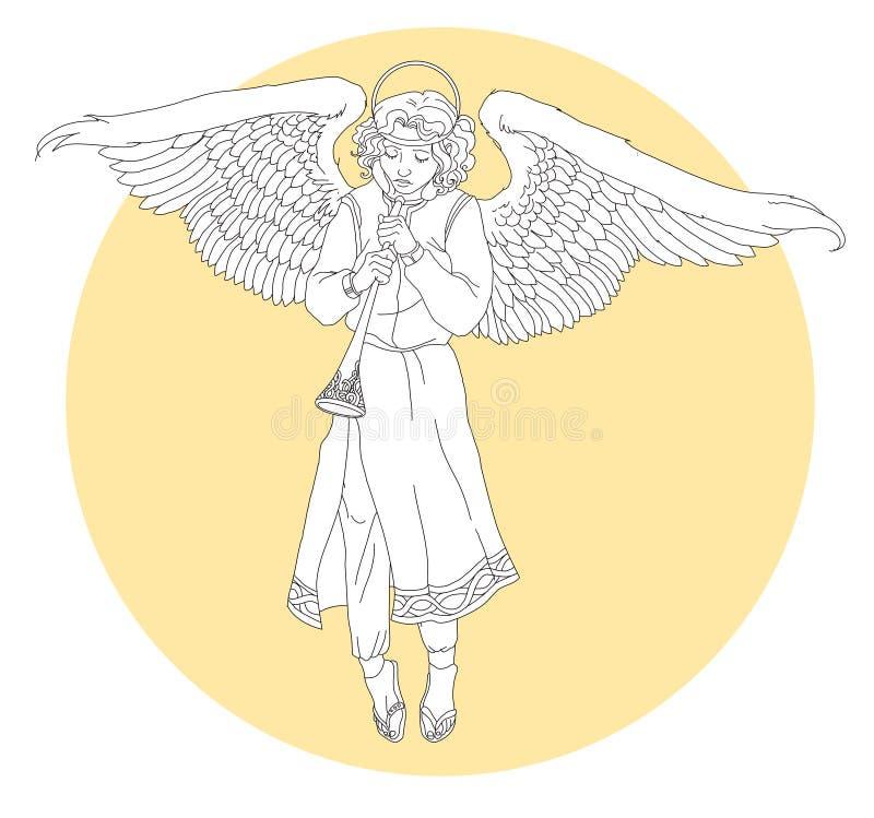 Anjo branco ilustração stock