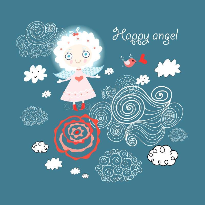 Anjo brilhante ilustração royalty free