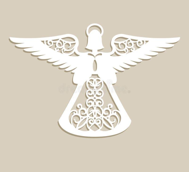 Anjo a céu aberto cinzelado Natal ilustração royalty free