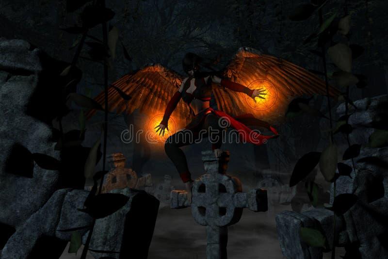 Anjo caído ilustração do vetor